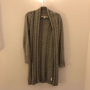 Long Grey Sweater/Cardigan